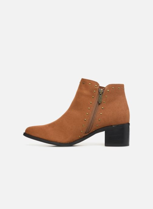 Ankle boots Les P'tites Bombes JUDITH Brown front view