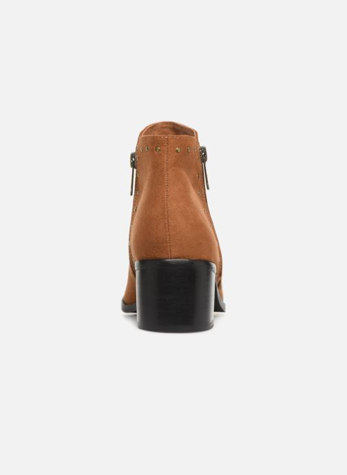 Ankle boots Les P'tites Bombes JUDITH Brown view from the right