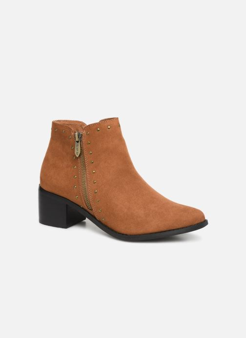 Ankle boots Les P'tites Bombes JUDITH Brown detailed view/ Pair view