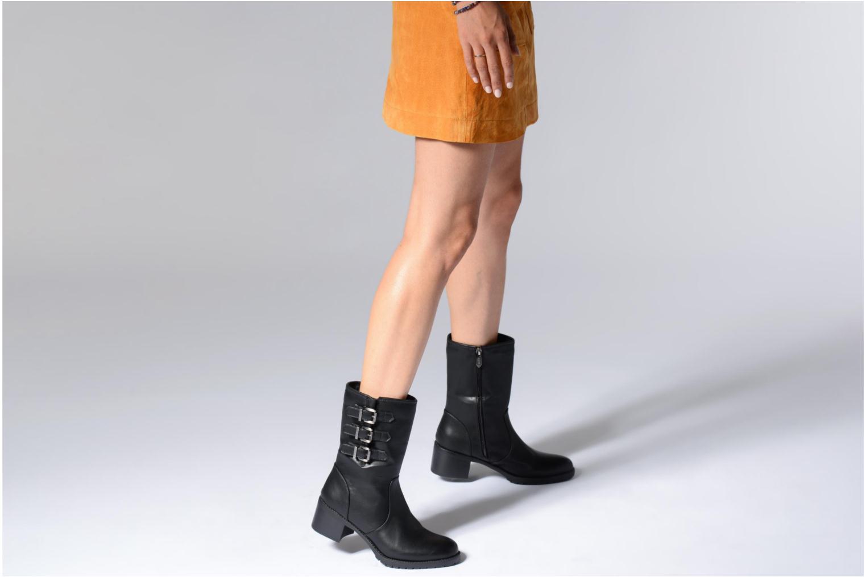 Bottines et boots Les P'tites Bombes LENA Noir vue bas / vue portée sac