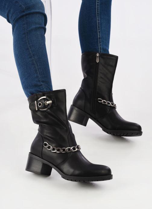 Bottines et boots Les P'tites Bombes LOANNE Noir vue bas / vue portée sac