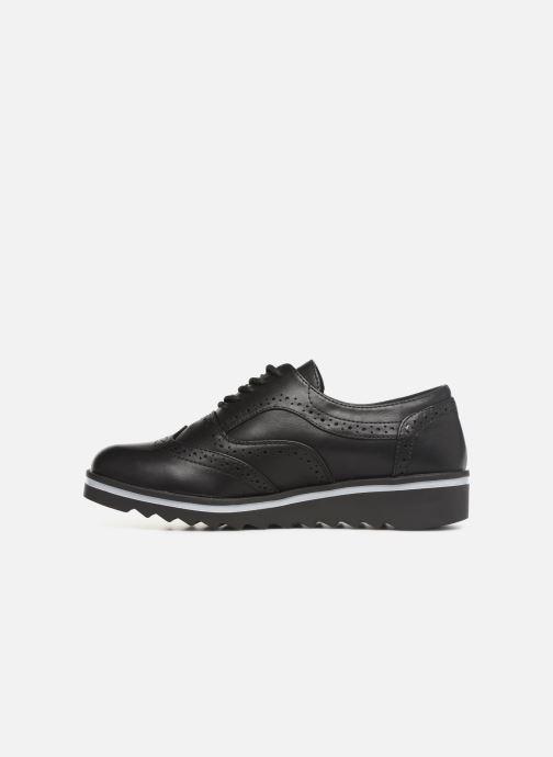 Lace-up shoes Les P'tites Bombes GARANCE Black front view