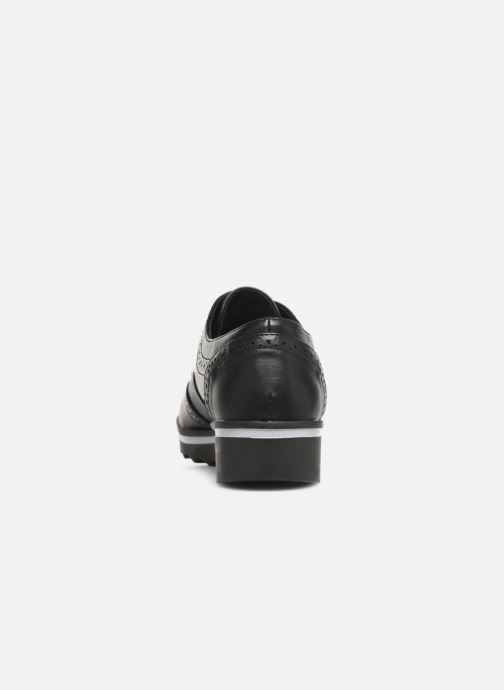 Lace-up shoes Les P'tites Bombes GARANCE Black view from the right