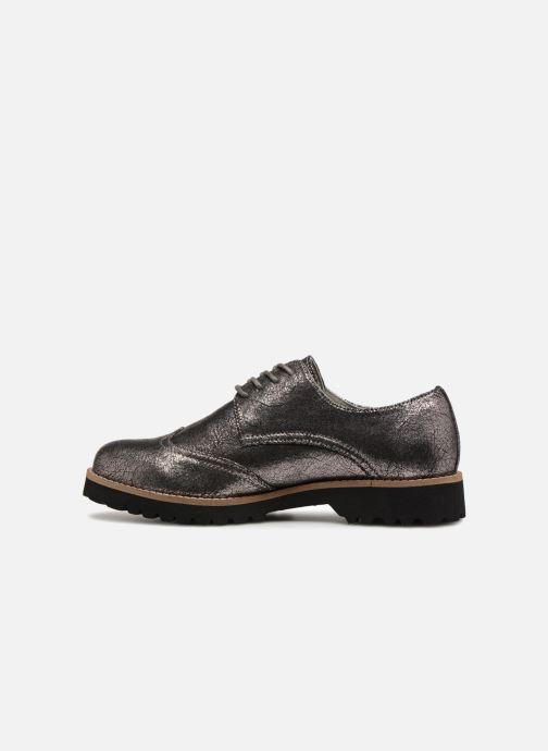 Zapatos con cordones Les P'tites Bombes GIOVANNA Plateado vista de frente