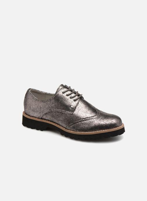 Chaussures à lacets Les P'tites Bombes GIOVANNA Argent vue détail/paire