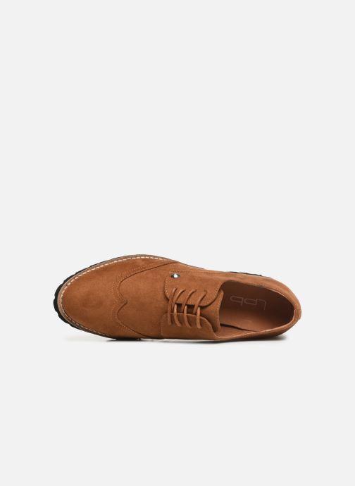 Zapatos con cordones Les P'tites Bombes GIOVANNA Marrón vista lateral izquierda