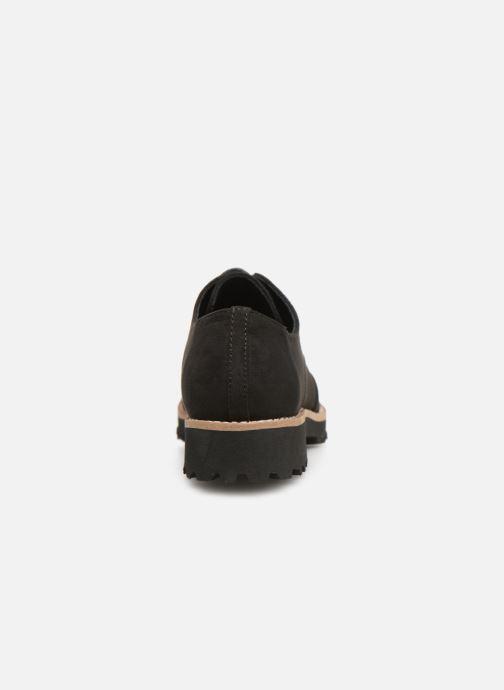 Zapatos con cordones Les P'tites Bombes GIOVANNA Negro vista lateral derecha