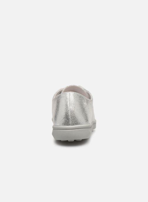 Zapatos con cordones Les P'tites Bombes FLORENCE Plateado vista lateral derecha