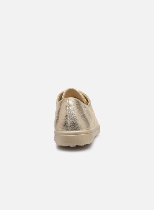 Chaussures à lacets Les P'tites Bombes FLORENCE Or et bronze vue droite