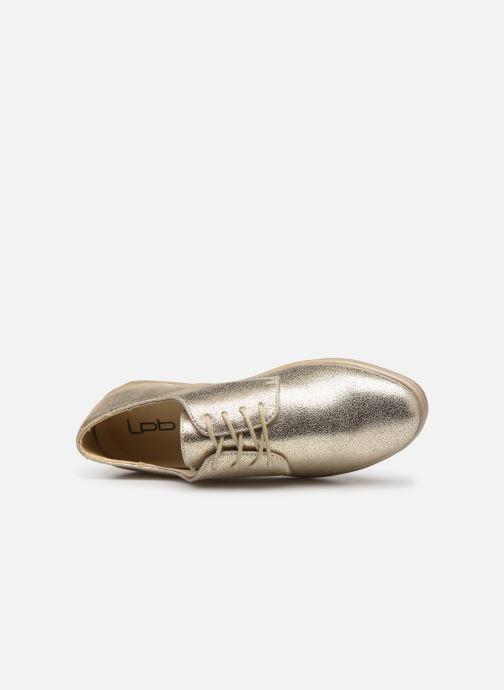 Snøresko Les P'tites Bombes FLORENCE Guld og bronze se fra venstre