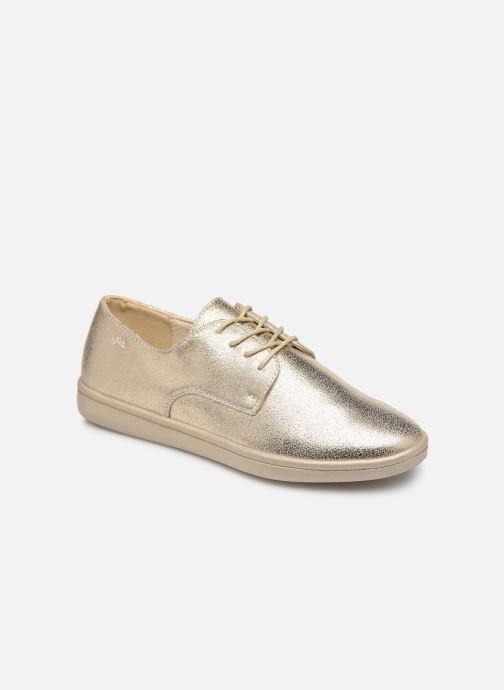 Snøresko Les P'tites Bombes FLORENCE Guld og bronze detaljeret billede af skoene