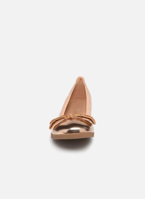 Ballerinaer Les P'tites Bombes EMMA METAL Pink se skoene på