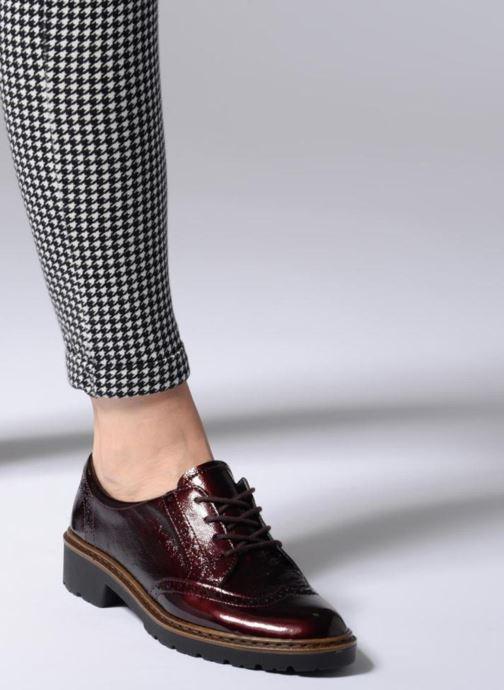 Zapatos con cordones Ara Richmont 16502 Vino vista de abajo