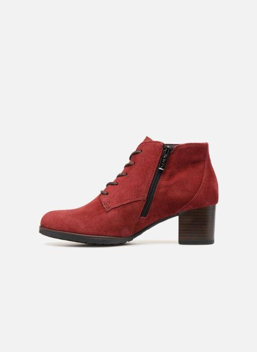 Botines  Ara Florenz 16942 Rojo vista de frente