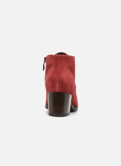 Botines  Ara Florenz 16942 Rojo vista lateral derecha