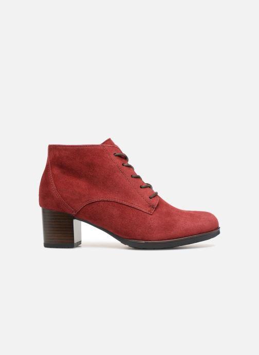 Botines  Ara Florenz 16942 Rojo vistra trasera
