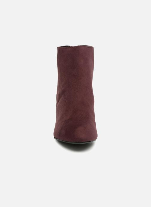 Bottines et boots Pieces PSDAJA BOOT Bordeaux vue portées chaussures