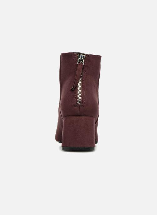 Bottines et boots Pieces PSDAJA BOOT Bordeaux vue droite