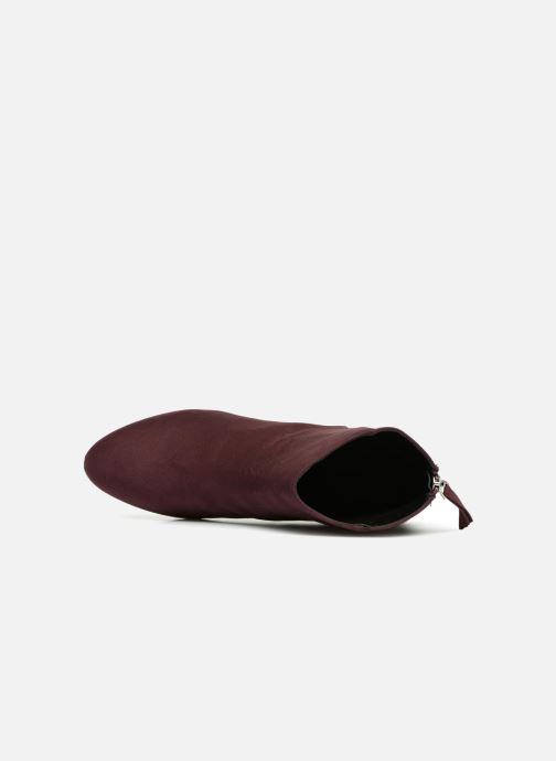 Bottines et boots Pieces PSDAJA BOOT Bordeaux vue gauche