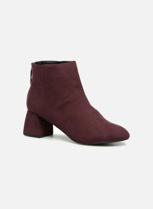 Bottines et boots Pieces PSDAJA BOOT Bordeaux vue détail/paire