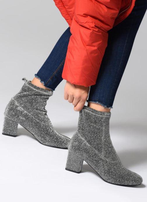 Bottines et boots Pieces PSDONNA GLITTER Argent vue bas / vue portée sac
