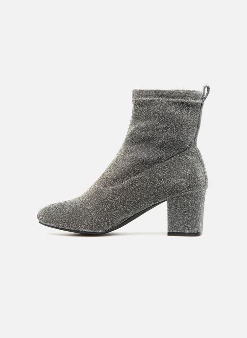 Bottines et boots Pieces PSDONNA GLITTER Argent vue face