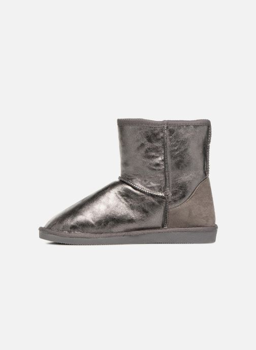 Ankle boots Pieces PSDIA WINTER BOOT Silver front view