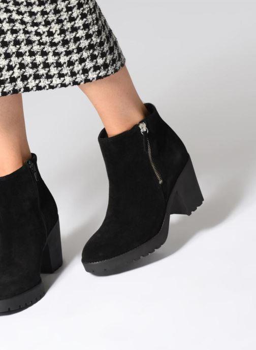 Boots en enkellaarsjes Pieces PSDEVRA SUEDE BOOT Zwart onder
