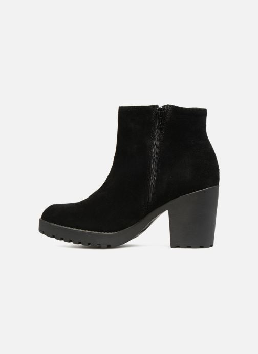 Boots en enkellaarsjes Pieces PSDEVRA SUEDE BOOT Zwart voorkant