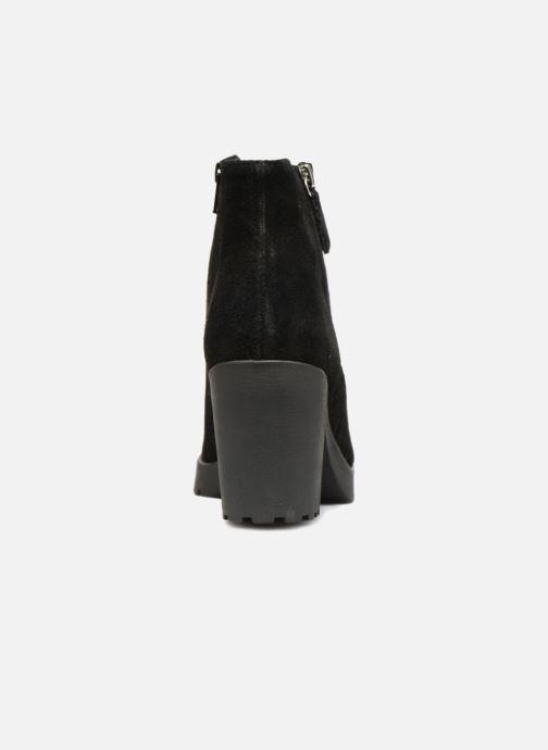 Boots en enkellaarsjes Pieces PSDEVRA SUEDE BOOT Zwart rechts