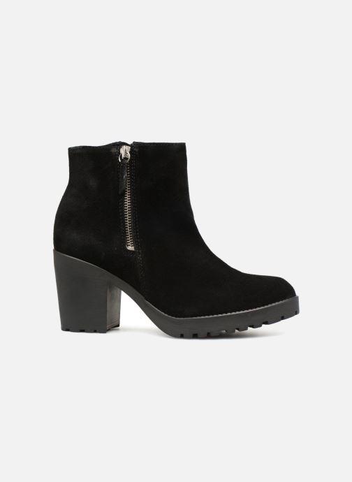 Boots en enkellaarsjes Pieces PSDEVRA SUEDE BOOT Zwart achterkant