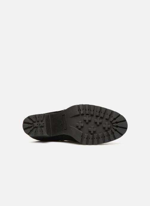 Bottines et boots Pieces PSDEVRA SUEDE BOOT Noir vue haut