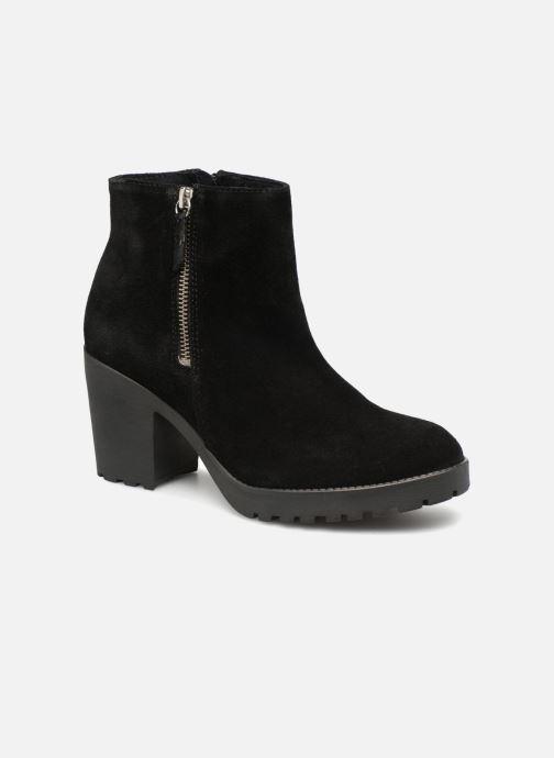 Bottines et boots Pieces PSDEVRA SUEDE BOOT Noir vue détail/paire