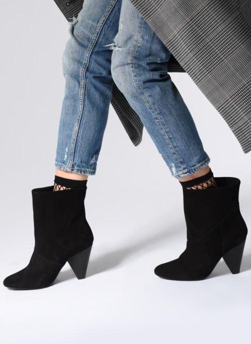 Bottines et boots Pieces PSDRUE SUEDE BOOT Noir vue bas / vue portée sac