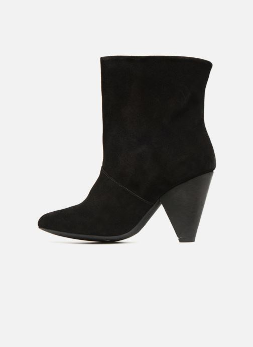 Boots en enkellaarsjes Pieces PSDRUE SUEDE BOOT Zwart voorkant