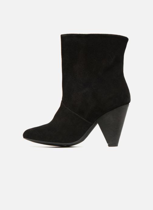 Bottines et boots Pieces PSDRUE SUEDE BOOT Noir vue face