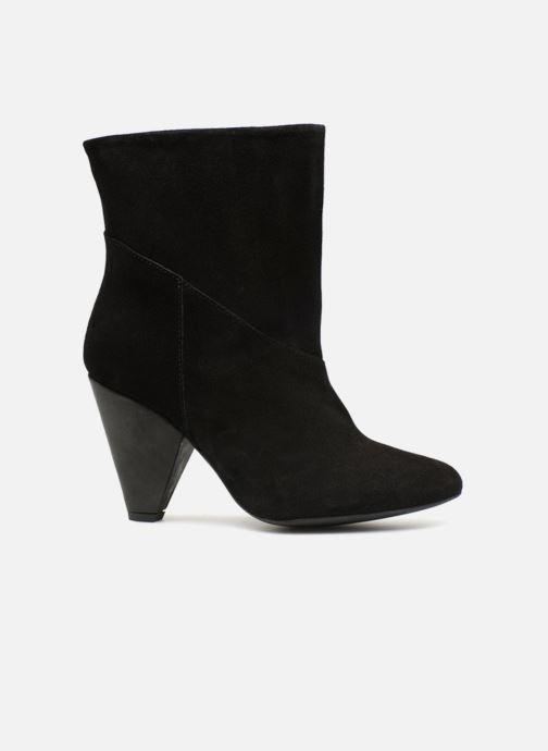 Boots en enkellaarsjes Pieces PSDRUE SUEDE BOOT Zwart achterkant