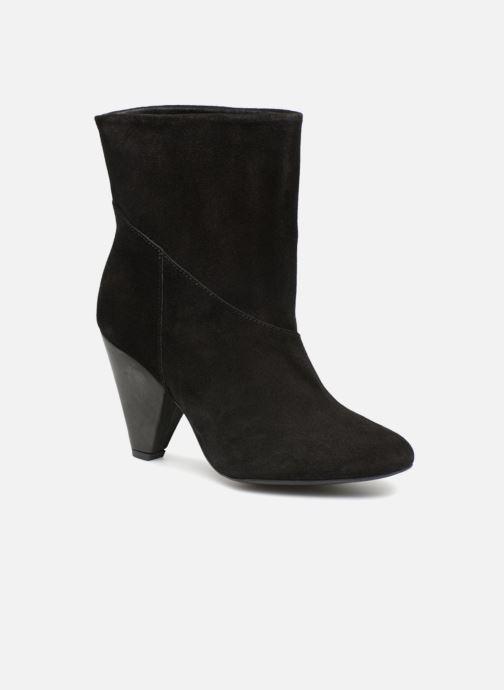 Bottines et boots Pieces PSDRUE SUEDE BOOT Noir vue détail/paire