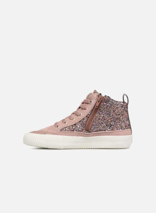Sneakers Victoria Bota Glitter Cremallera Rosa immagine frontale