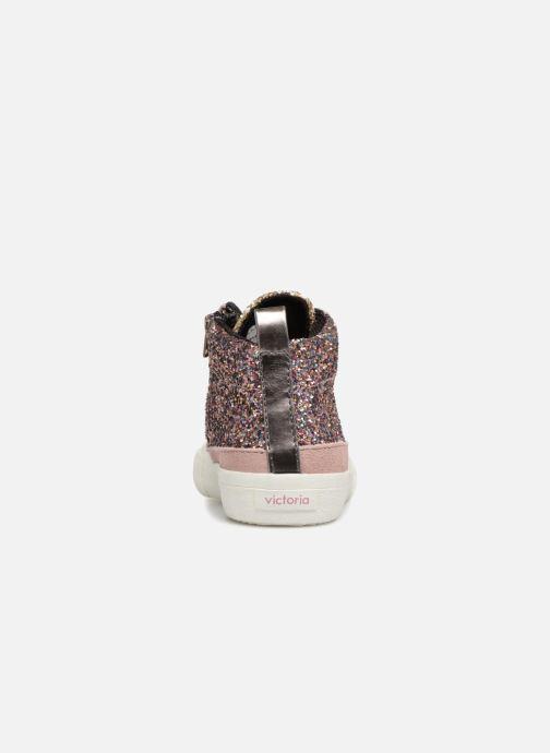 Sneakers Victoria Bota Glitter Cremallera Rosa immagine destra