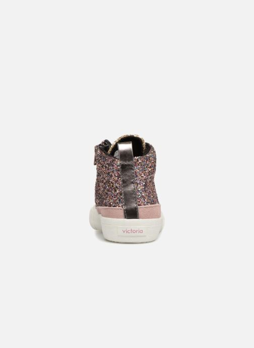 Sneakers Victoria Bota Glitter Cremallera Roze rechts