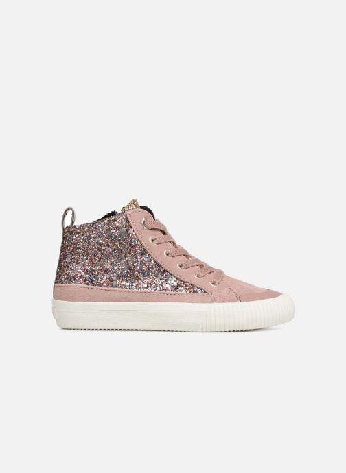 Sneakers Victoria Bota Glitter Cremallera Roze achterkant