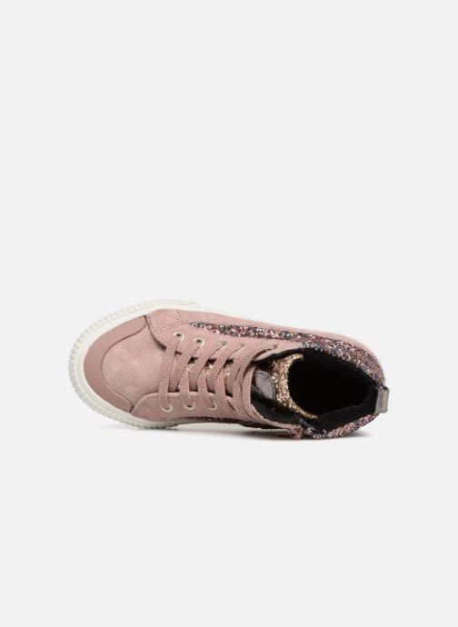 Sneakers Victoria Bota Glitter Cremallera Rosa immagine sinistra