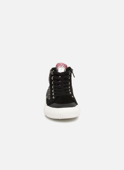 Baskets Victoria Bota Glitter Cremallera Noir vue portées chaussures