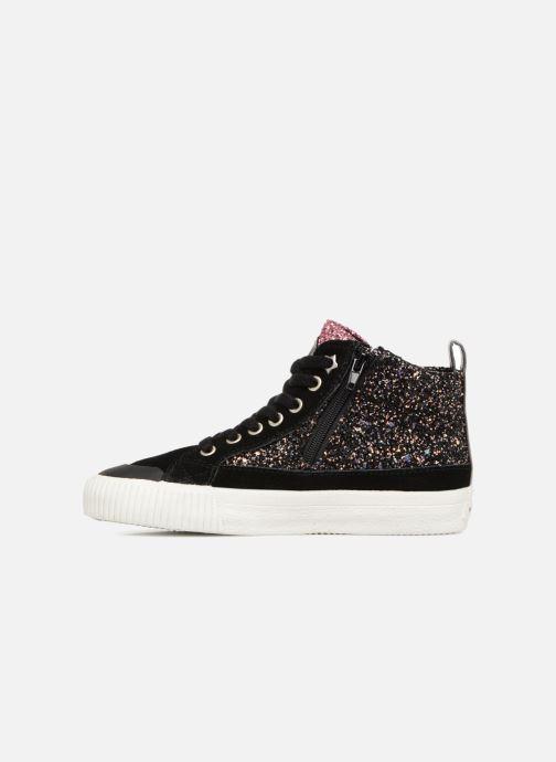 Sneakers Victoria Bota Glitter Cremallera Zwart voorkant