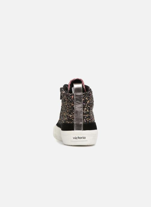 Sneakers Victoria Bota Glitter Cremallera Zwart rechts