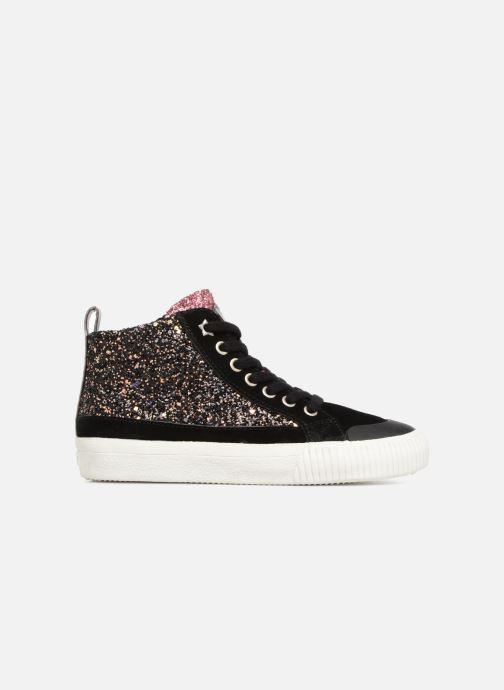 Sneakers Victoria Bota Glitter Cremallera Zwart achterkant