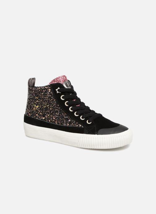 Sneakers Victoria Bota Glitter Cremallera Zwart detail