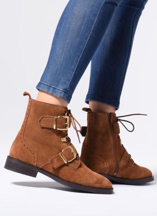 Bottines et boots COSMOPARIS VAHIA/VEL Marron vue bas / vue portée sac
