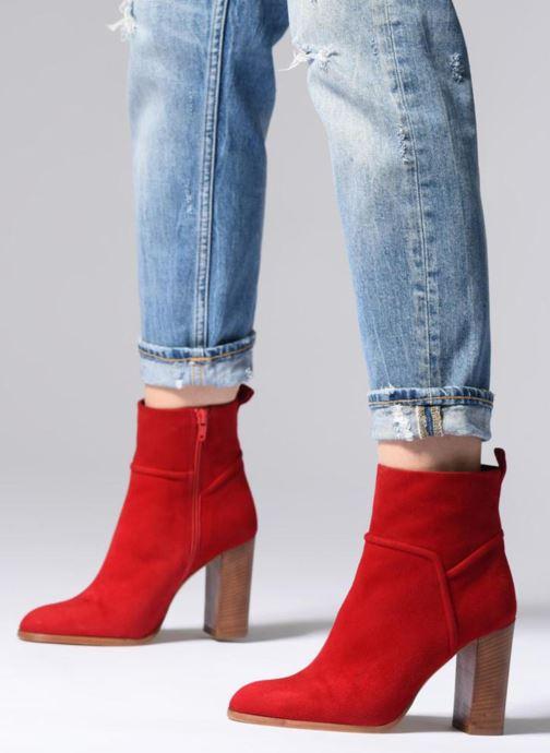 Stiefeletten & Boots COSMOPARIS METI / VEL rot ansicht von unten / tasche getragen